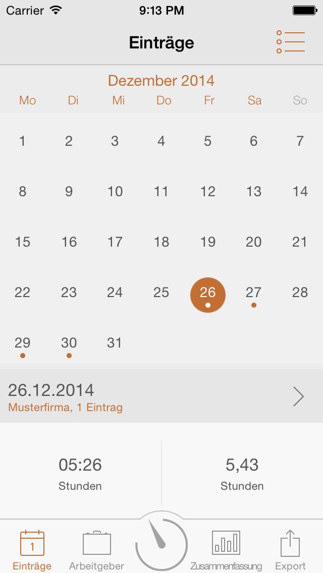 Arbeitszeit Tagebuch Pro
